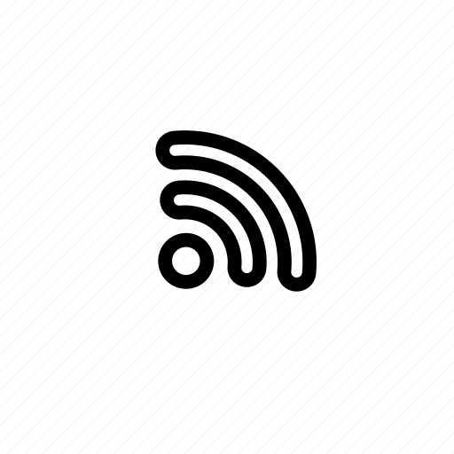 feed, internet, line, media, rss, subscribe, wifi icon