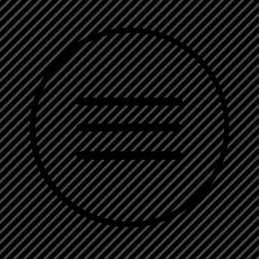 hamburger, line, list, menu, navigation, option, options icon