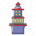beacon, cartoon, house, lighthouse, object, marine, logo icon