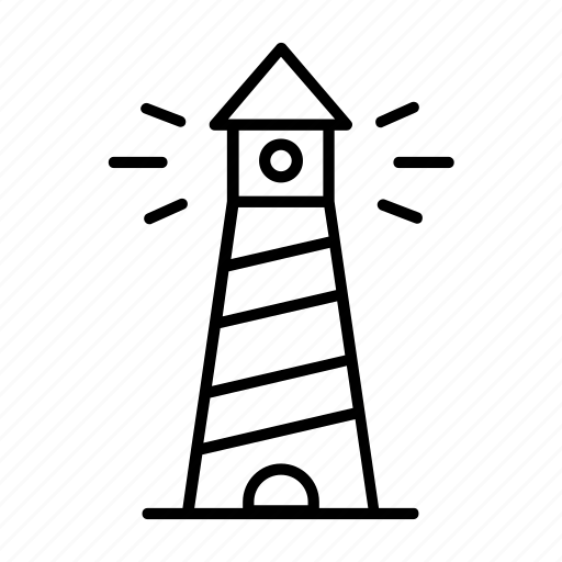 beach, beacon, guide, lighthouse, navigation, sea, warning icon