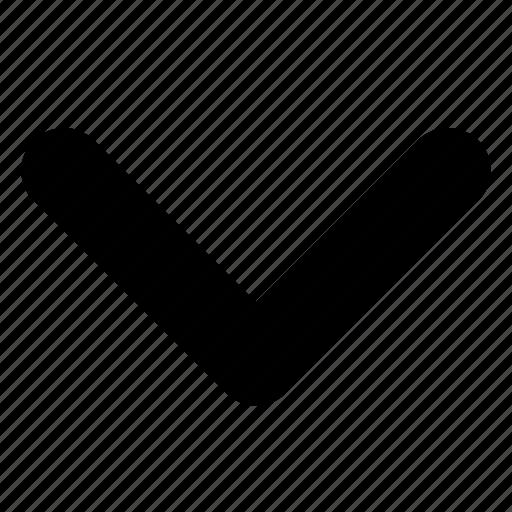 arrow, chevron, direction, down, next icon