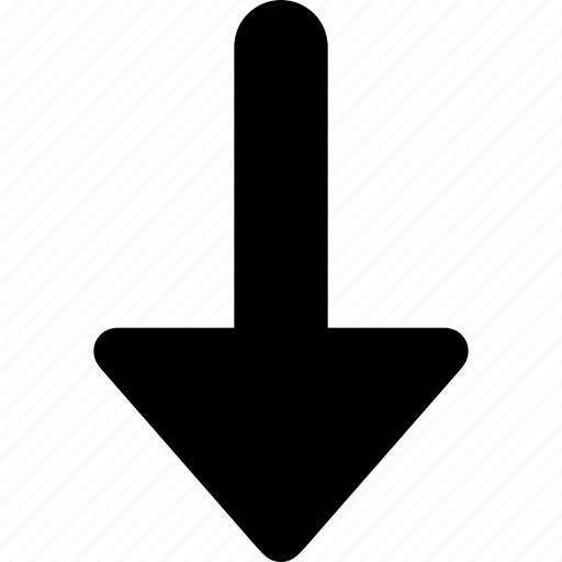 arrow, direction, down, next icon