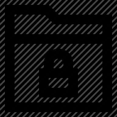 folder, locked, secure icon