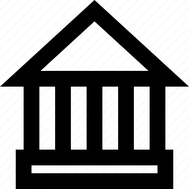 bank, college, government, library icon