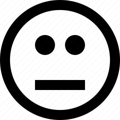 emoticon, emotion, neutral, smiley icon