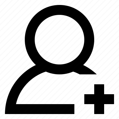 add, new, user icon