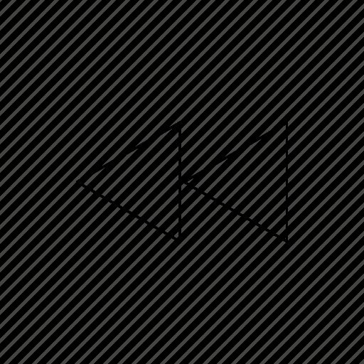 arrows, back, left, rewind icon