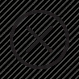 abort, cancel, close, cross, delete, remove, revoke icon