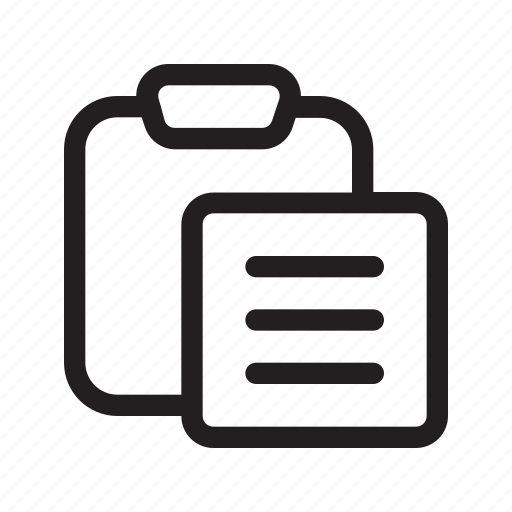 clipboard, list, paste icon