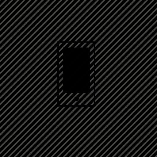 block, line, mobile, phone icon