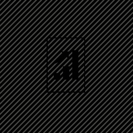 analyze, block, chart, grow, line, up icon