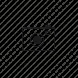 block, camera, line icon