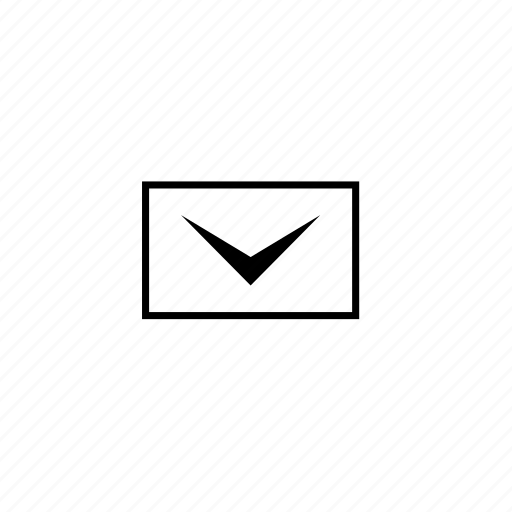 block, email, line, mail, message icon