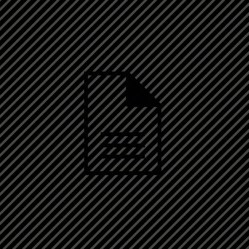 block, doc, document, file, line icon