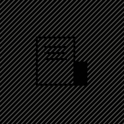 block, doc, document, line icon