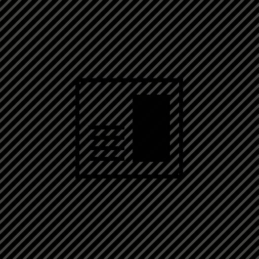 article, block, line, paper icon