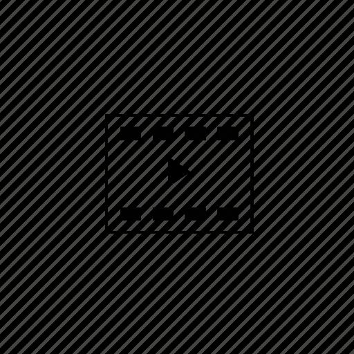 block, line, video icon