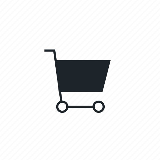 block, cart, line, shopping cart icon