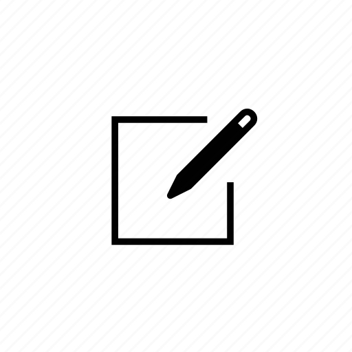 block, edit, line, pen, write icon
