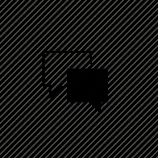 block, bubble, forum, line, talk, text icon