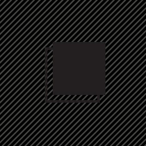 block, copy, line, pages icon