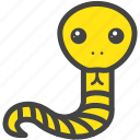 farm, nature, snake, yellow icon