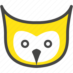bird, nature, owl, yellow, zoo icon