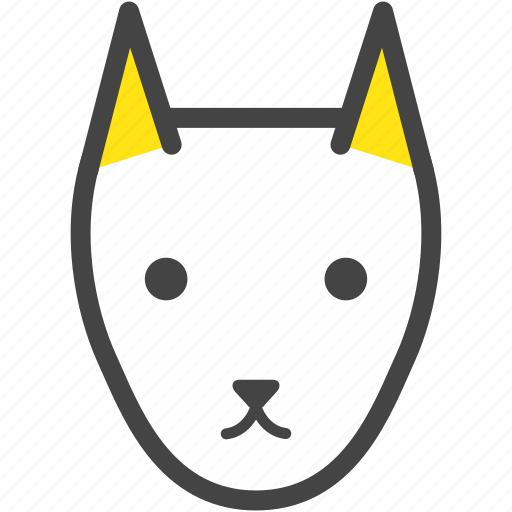 canine, dog, doggie, doggy, farm, nature, yellow icon
