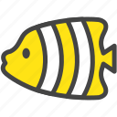 aquarium, fish, nature, sea, tropical fish, yellow, zoo icon