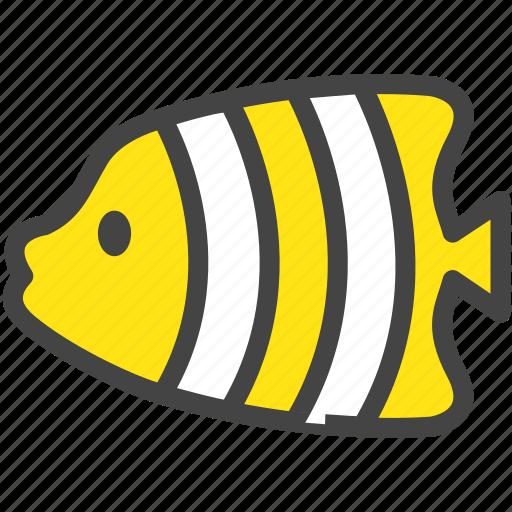 aquarium, fish, nature, sea, tropical fish, yellow, zoo icon