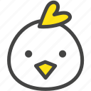 chicken, farm, hen, nature, rooster, yellow icon