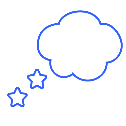 bubble, dream, dreaming, happy, night, sleep, stars icon