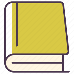 author, book, books, library, pages, read icon