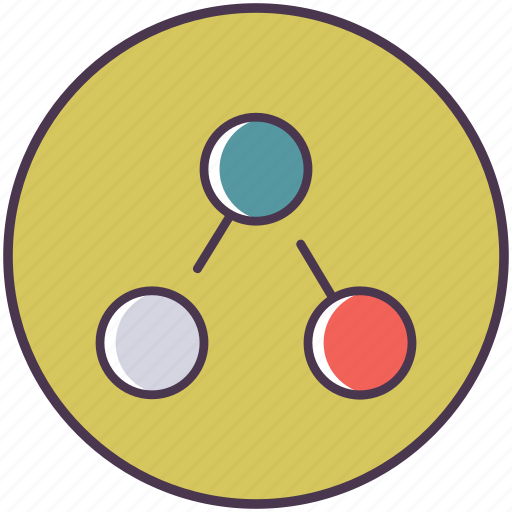 link, linked, media, share, sharing, social, viral icon