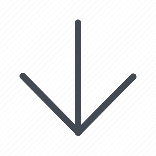 arrow, direction, down, navigation icon