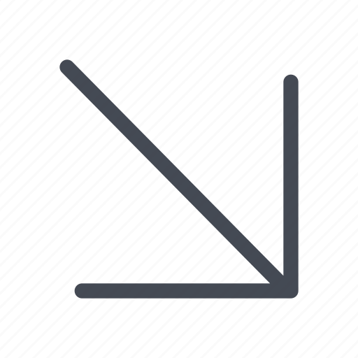 arrow, direction, down, navigation, right icon