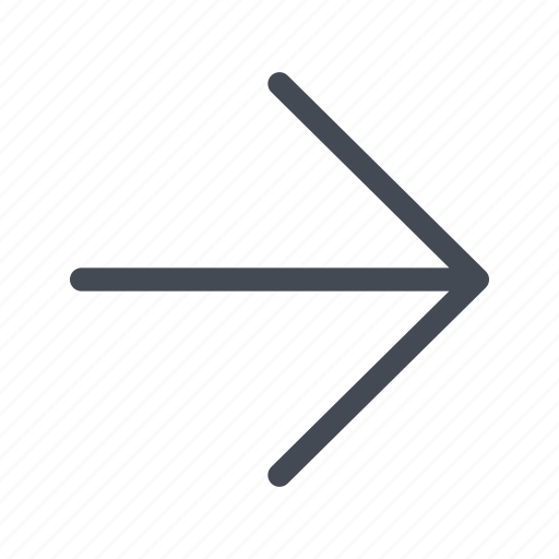 arrow, direction, navigation, right icon