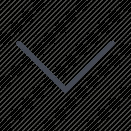 arrow, chevron, down, expand icon