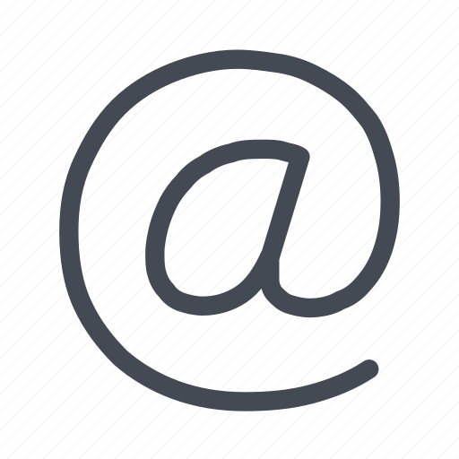 address, email, mail, message icon