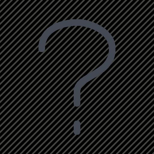 help, interrogation, question, support icon
