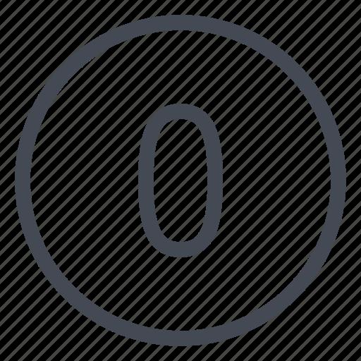 number, numbers, numeric, point, zero icon