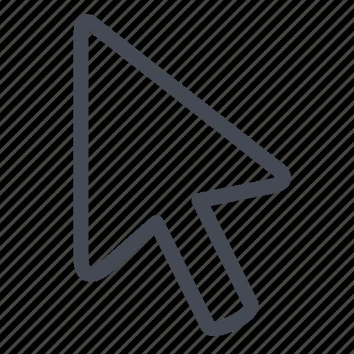 arrow, click, cursor, marker, navigation, pointer icon