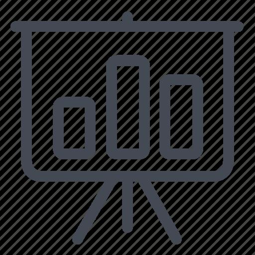 blackboard, charts, diagram, graphics, presentation, statistics icon