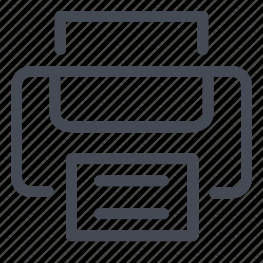 device, document, page, paper, presentation, print, printer icon