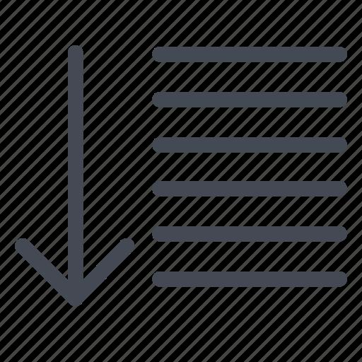 arrow, down, list, sort icon