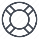 buoy, help, ring, rubber, support icon