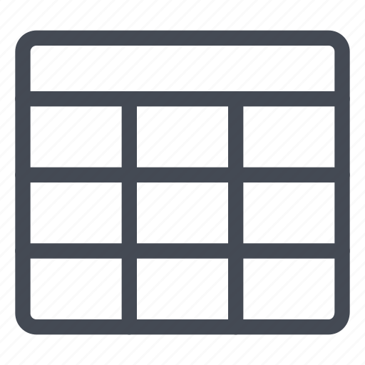 cases, cells, table icon