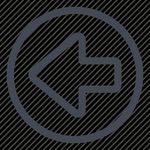 arrow, btn, circle, left icon