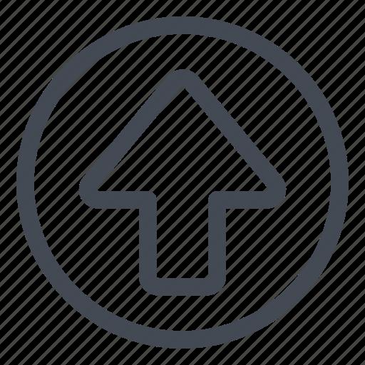 arrow, btn, circle, up icon