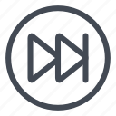 btn, circle, end, goto icon